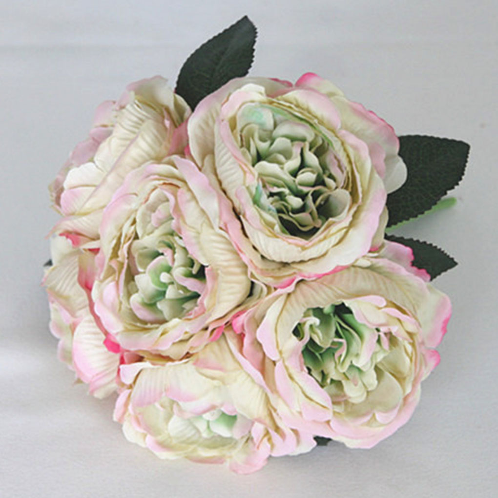 Small fresh bridal wedding fake flower bouquet artificial peony small fresh bridal wedding fake flower bouquet artificial peony flower bride bridesmaid holding flowers in artificial dried flowers from home garden on izmirmasajfo Images