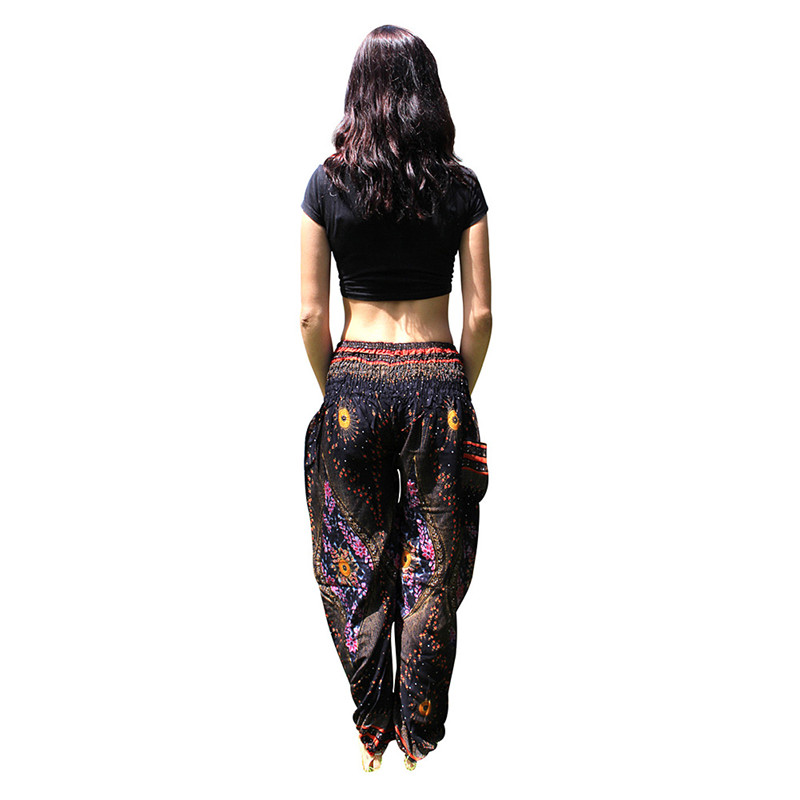 Women Bohemia Harem Pants Summer Beach Printed Trousers Sportswear Fitness Yoga Bloomers Loose Pants for Women