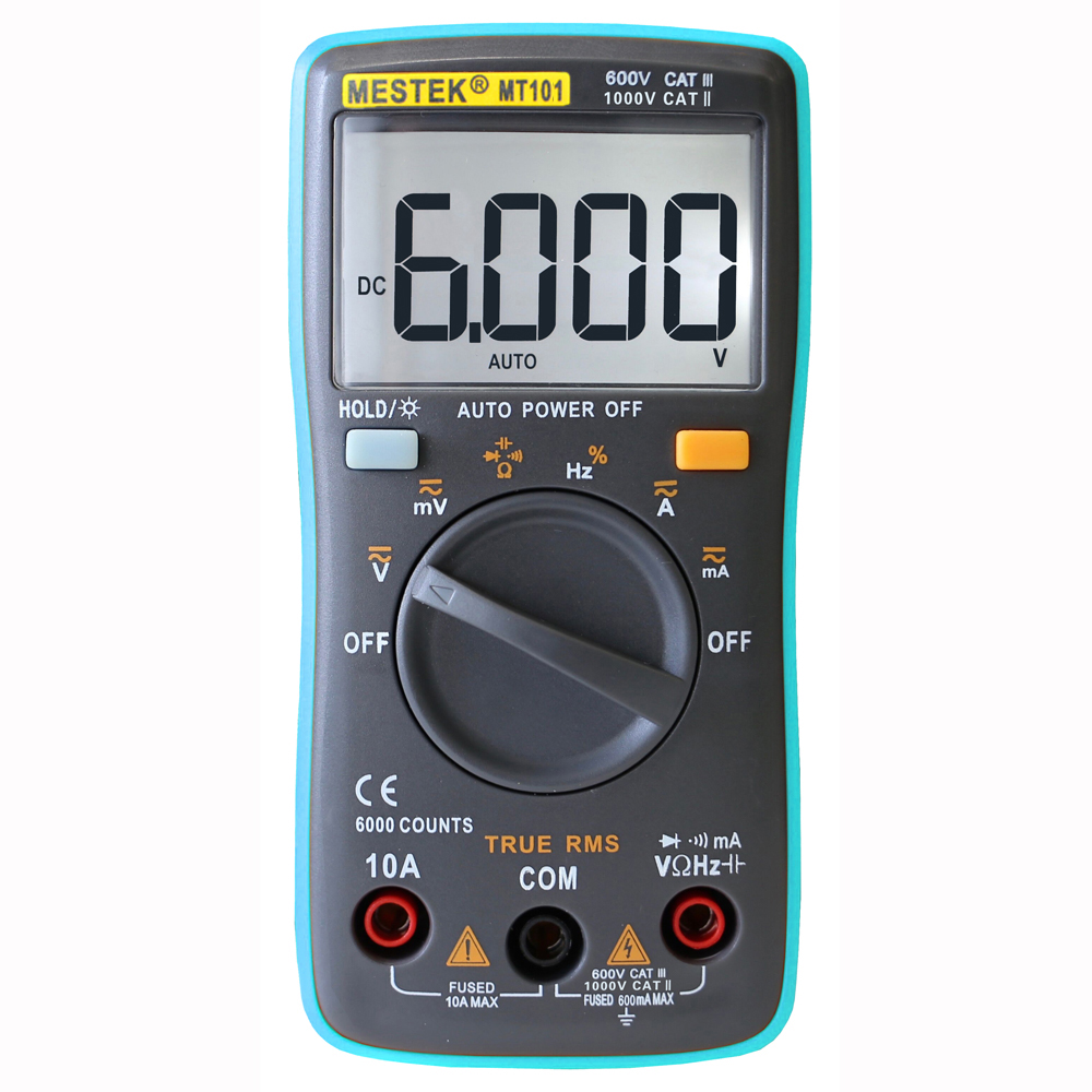 Digital Multimeter Voltmeter Ammeter Tester Voltage Volt Meter Electric Testing