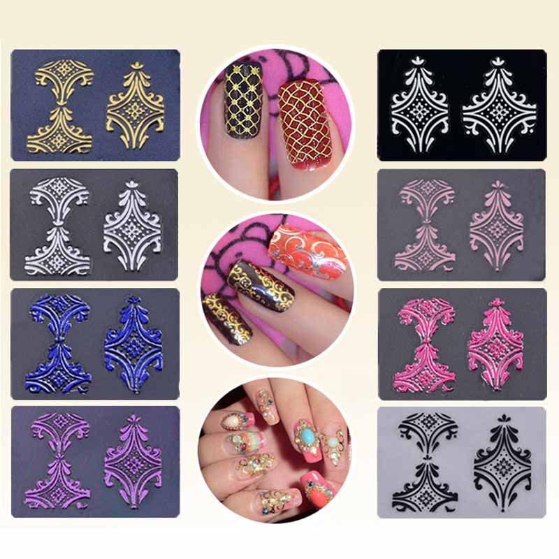 Nail art 3D Sticker Phototherapy Adhesive Sticker Carapace Pet Nail Sticker 108PCS 8 Color Optional Mixed wholesale in Stickers Decals from Beauty Health
