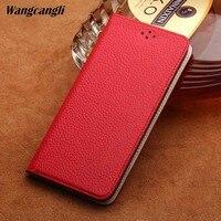 Genuine Leather flip phone case for LG G7 lychee texture handmade custom phone case for LG G7 G6 Q6 V30 Nexus 5X