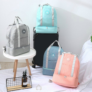 Image 1 - Luggage Travel Bag ouble Layer Design Duffel Storage Clothes Shoes Bag Bra Underwear Pouch Waterproof Portable Storage Zip Pouch