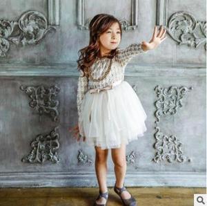 Image 4 - Dziewczynek ClothesKids małych dzieci dziewczyny dzieci z długim rękawem grubsze gaza tiul sukienka sukienka 2 kolory ubrania dla dzieci 5 zestawów/partia