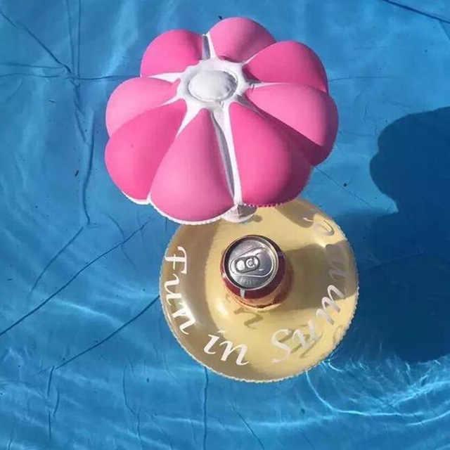 1PCS MINI Inflatable Flamingo Unicorn Donut Pool FLOAT ของเล่นเครื่องดื่มลอยถ้วยผู้ถือแหวนว่ายน้ำของเล่นชายหาดเด็กผู้ใหญ่