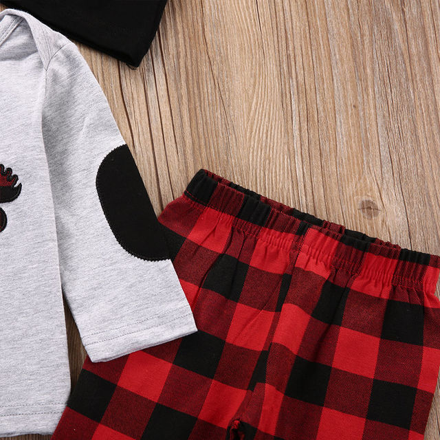3PCS Set Newborn Baby Girls Boys Clothes Set Tops T-Shirt Long Pants Hat Casual Baby Boy Outfits Clothes 4
