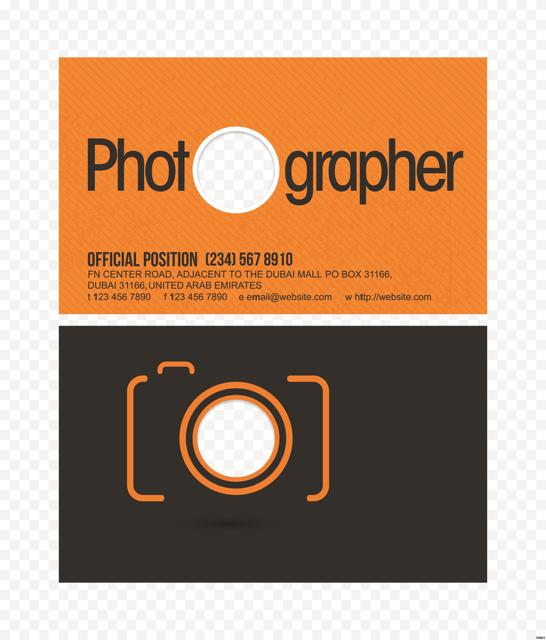 photography business card template design for personal Y0021-in - card templates for pographers