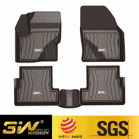 Car floor mats For LINCOLNl MKZ/MKX with 3w Customized Special tpe,black
