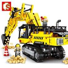 Technic créateur Expert mécanique pelle Construction véhicule blocs de Construction kit briques modèle classique jouets pour enfants cadeau
