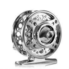 лучшая цена Full Metal Ultra-light Former Ice Fishing Reels Wheel Fly Fishing Reel Aluminum Fishing Accessories