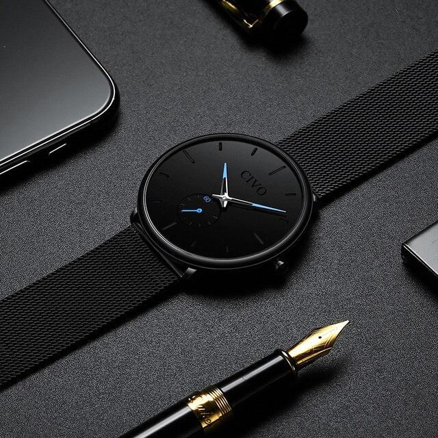 CIVO Fashion Waterproof Slim Quartz Wrist Watches 3