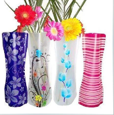 Flower Pots Planters Vaso Home Furnishings Collapsible Plastic Transparent Decorative Flowers