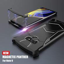 Superhero Note9 Case Fashion Panther Magnetic Metal Frame Case Cover For Samsung Galaxy Note 9 Shell Aluminum Heat Dissipation multifunctional heat dissipation 8gpu mining frame case stackable design aluminum acrylic insulation mining frame case