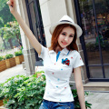 High Quality sweet Womens Ladies femmes Cotton polo shirts short sleeve polo raph femme cheval damen polo hemd summer top camisa