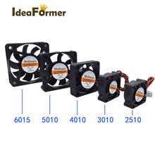 Вентилятор охлаждения для 3D-принтера 2510 3010 4010 5010 6015 мм с 2Pin XH2.54 кабелем кулер DC 5 в 12 В 24 в несколько вариантов вентилятора охлаждения