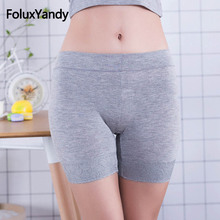 Breathable Bamboo Fiber Safety Shorts Pants Women Plus Size Elastic Solid Summer Lace Skinny RUJLWY07