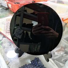 DHX SW огромный 20 см натуральный черный обсидиан пластины фэншуй толщиной зеркало круг диск Рейки Исцеление Кристалл Камень с бесплатной полки