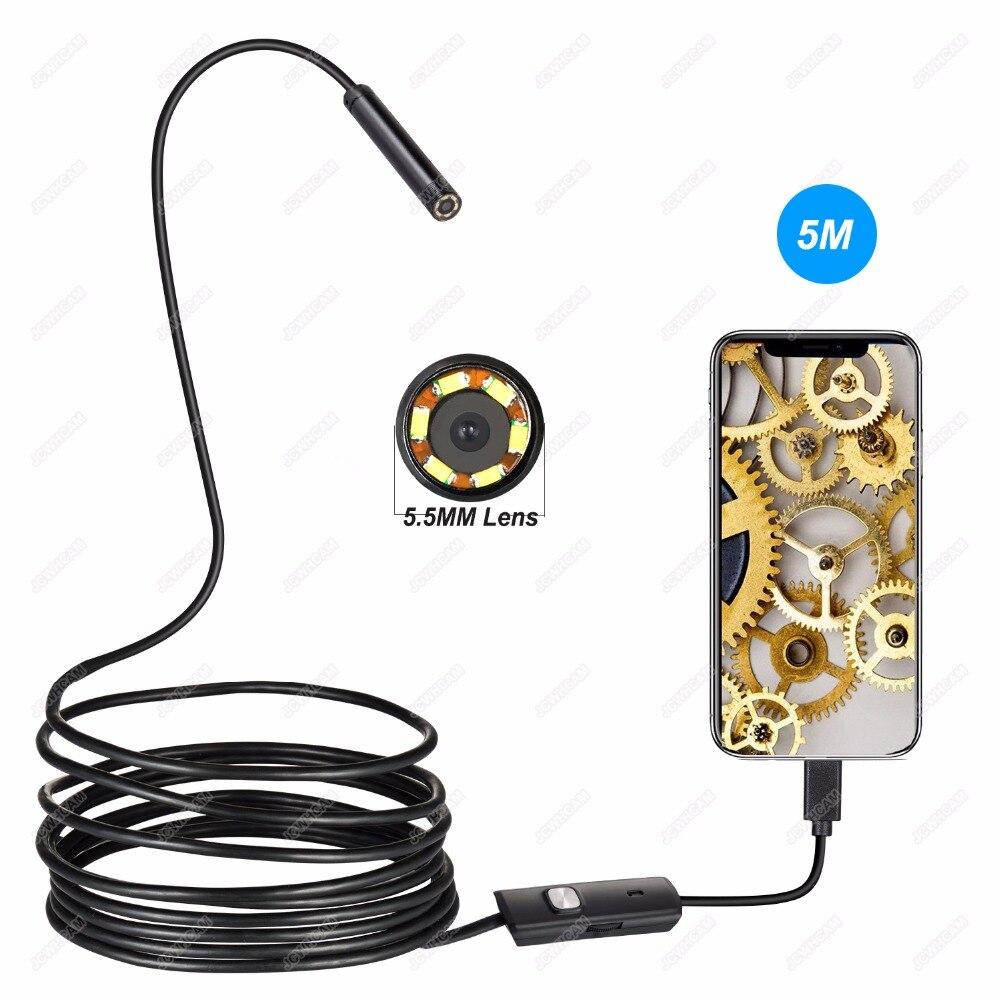 Ausdauernd 2 Mt 5 Mt 10 Mt 5,5mm 2in1 Auto Endoskop Kamera Ip67 Wasserdicht 6 Led Otg Android Inspektion Video Foto Erfassen Kamera Endoskop Usb Messung Und Analyse Instrumente