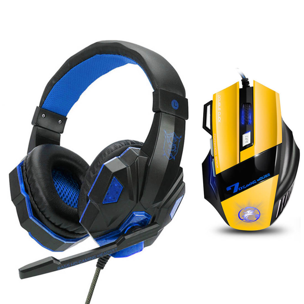 Best Gaming Headset Gamer casque Deep Bass Gaming Headphones for Computer PC Laptop Notebook with Microphone LED For PS4 ...