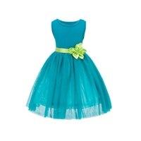 Kids Baby Girl Blue Layered Tutu Dress Toddler Princess Party Dresses Sundress 2 7Y