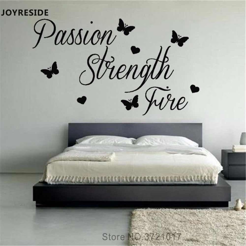 Joyreside Quotes Passion Strength Fire Wall Decal Fashion Vinyl Stickers Words Home Bedroom Art Decor Interior Design Mural A656 Aliexpress