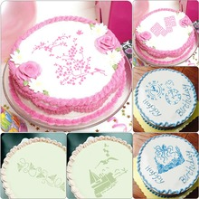 ФОТО plastic cake stencils flower spray mold diy fondant template cake mold birthday cake decorating baking tools mould