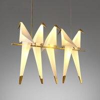 LED pendant lights modern loft bird hanging lamps nordic living room fixtures bedroom lighting restaurant suspension luminaire