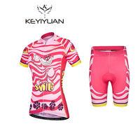 2018 keyiyuan Cartoon Alice Cat Summer Women Short Sleeve   Cycling     Jerseys   Quick-Dry Bicycle Sportwear Ciclismo Short   Jerseys