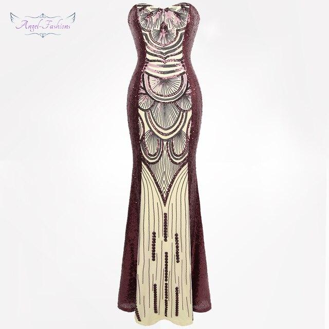Angel Fashions Womens Vintage Art Deco Evening Dresses Sequin