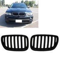 2Pcs Matte Black Front Kidney Grilles For BMW X5 E53 3 0 4 4 4 6