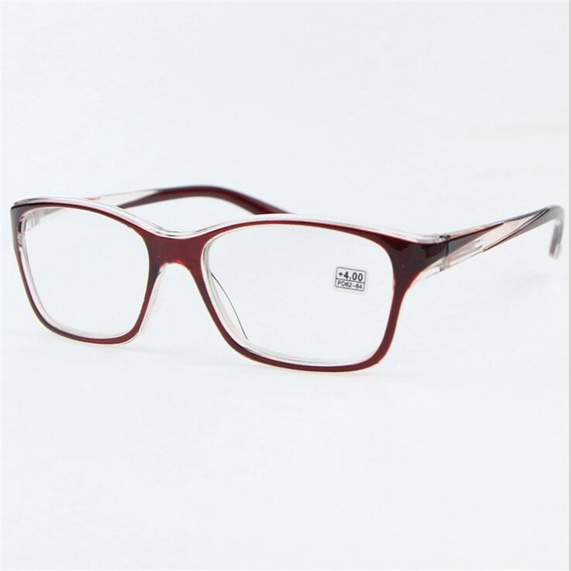 6cb7e577c251 Red Large Square Reading Glasses Women Comfortable Exquisite Ultralight Eyeglasses  Frame Ladies 1.0-4.0 R193