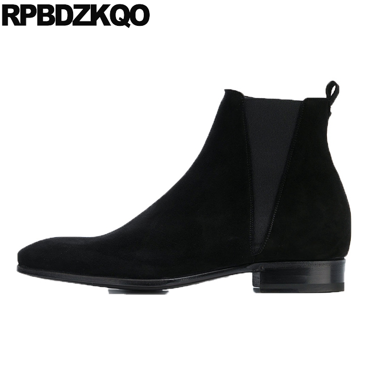 plus size 2018 pointed toe black ankle short handmade suede big booties autumn mens zipper dress boots shoes genuine leatherplus size 2018 pointed toe black ankle short handmade suede big booties autumn mens zipper dress boots shoes genuine leather