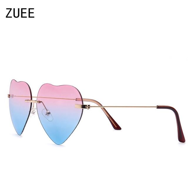 New moda unissex óculos de sol forma do amor pequeno e elegante senhora  óculos de sol b745743a80