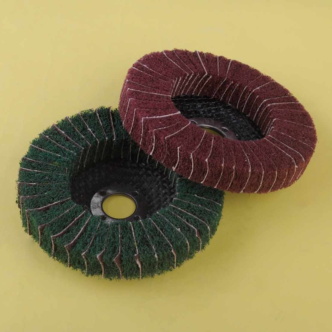 Nylon Abrasive Polishing Buffing Fiber Flap Wheel Disc Dia 100mm Grit 120 Or 240