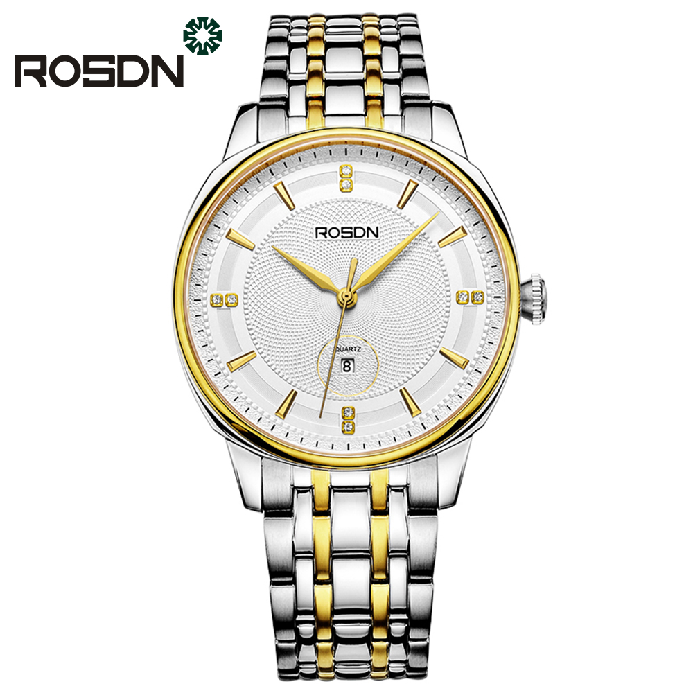 ROSDN Mens Watches Top Brand Luxury Simple Quartz Watch Men Classic Casual Wristwatch New Watches For Men Relogio Masculino