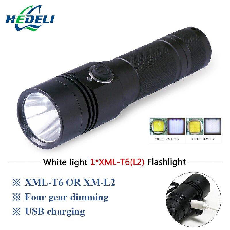 CREE LED flashlight T6 / L2 5000LM LED flashlight CREE LED flashlight USB charge 4-mode 18650 battery bike hunting lights