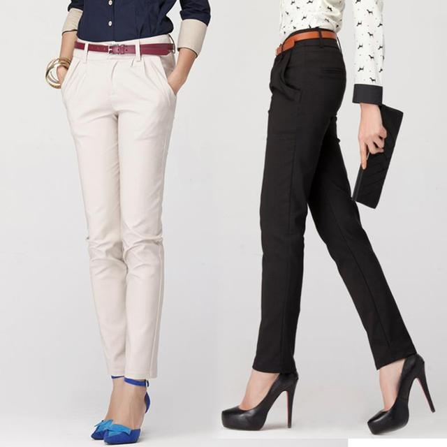 High Quality Fashion Pants Women Office Lady Suit Long Trousers Pokect Pencil Wear