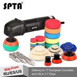 SPTA 780W Mini Polishing Machine Ro Roary Polisher Car Polisher With 27Pcs Polishing Pads and 75mm/100mm/140mm Extension Shaft