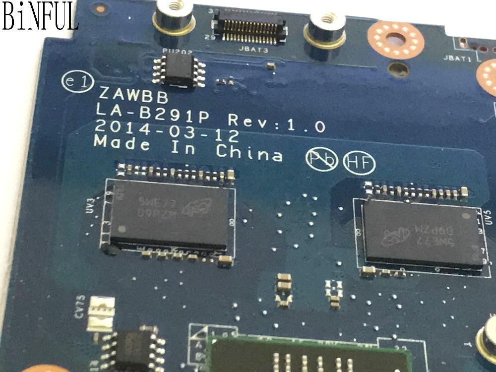 BiNFUL 100 NEW TESTED ZAWBB LA B291P LAPTOP MOTHERBOARD FOR LENOVO B50 45 NOTEBOOK WITH A6