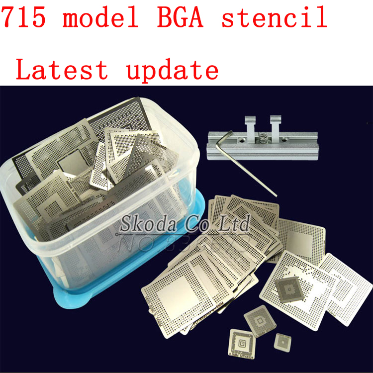 2016 Newest 715 model BGA stencil Templates Direct Heating Reballing stencil Reballing Jig For Chip Rework