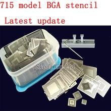 2016 715 El Más Nuevo modelo BGA Directa Calefacción reballing Plantillas stencil + Reballing Jig Para Chip de Reparación De Soldadura Kit