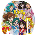 Alisister Anime Sailor Moon sweatshirt women's 3d hoodies pullover print cartoon long-sleeved shirt clothing moleton feminino