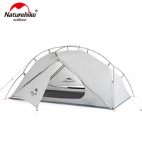 Naturehike vik série 970g ultraleve única barraca 15d náilon impermeável barraca de acampamento única camada ao ar livre caminhadas tenda NH18W001 K|Barracas| |  -