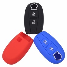 hot deal buy silicone  car key case smart cover case for suzuki swift sport sx4 scorss gra 2/3 buttons car styling