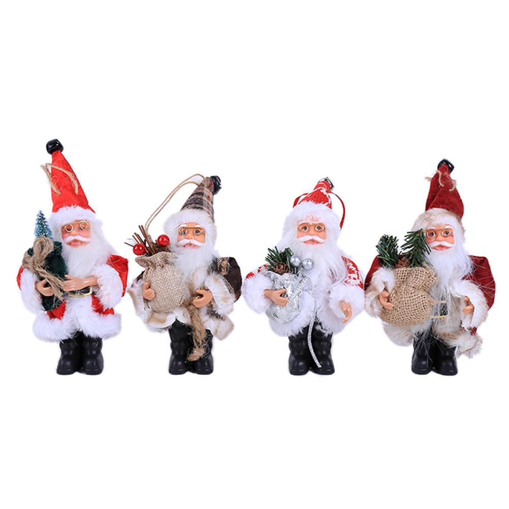 New Year Christmas Decorations Santa Claus Shaped Ornaments Window Props Toy Doll Gifts