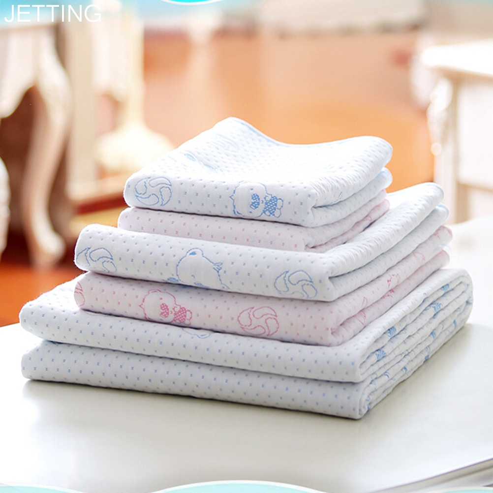 Hot Sale 2 ColorsKids Reusable Waterproof Mattress Bedding Diapering Changing Mat New Washable breathable cotton Baby