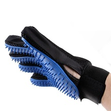 Pet Dog deShedding Tools Cleaning Glove Cat Dog Cleaning Brush Finger Silicone Glove For Dog Scrub Bath Clean Free Shipping