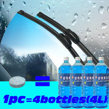 Auto Glass Cleaner Car Windshield Cleaning Car Accessories Cleanse Wiper Wash Effervescent Tablet Glass Clean Wiper Fine Clear(China)