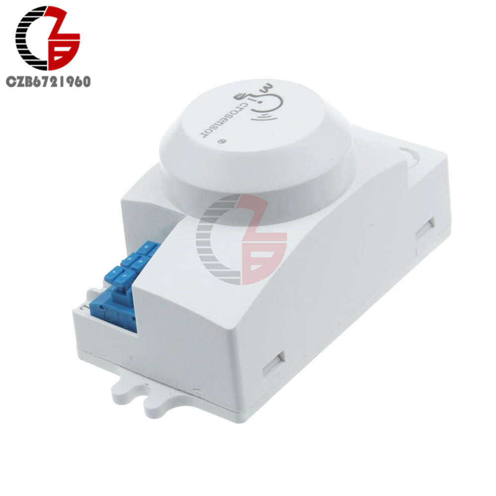 AC 220V Microwave Movement Motion Sensor Switch Microsensor Detector ...