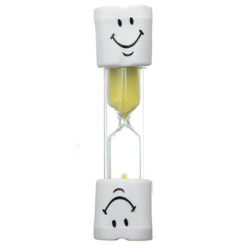 Childrens Toothbrush Timer Hourglass Kids Sandglass Smiley Sand Egg 2 Minutes 1pcs image