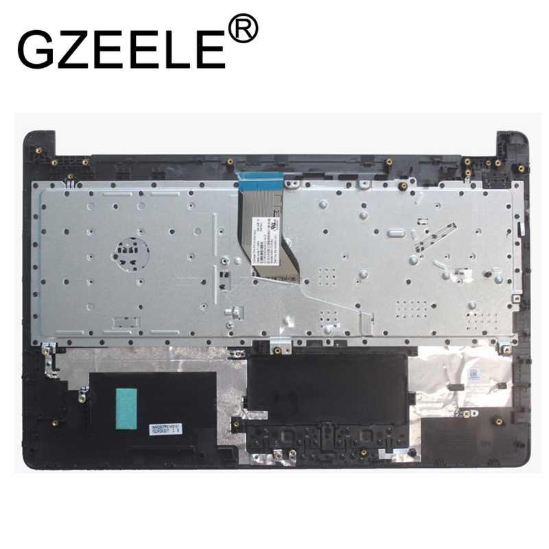 Gzeele Baru untuk HP Pavilion 15-BS 15-BW 250 G6 255 G6 15T-BS Tempat Berteduh Perakitan Atas Kasus Keyboard Bezel Bahasa AM204000100